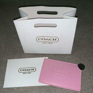 Pink Coach Mirror For Your Purse - New with Bag